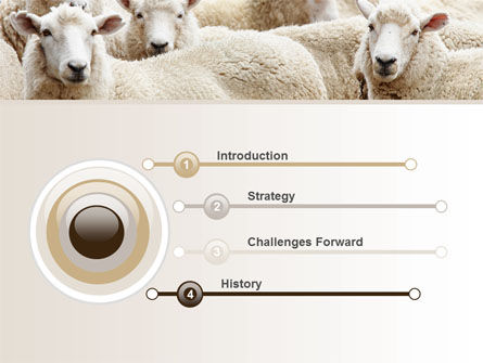 Sheep Flock PowerPoint Template Slide 3