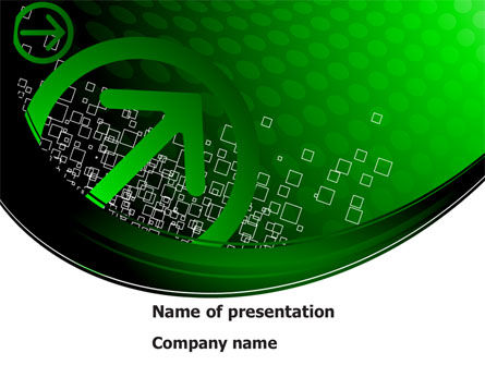 Abstract/Textures: Green Pointing Arrow PowerPoint Template #08444