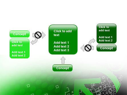 Green Pointing Arrow PowerPoint Template Slide 13