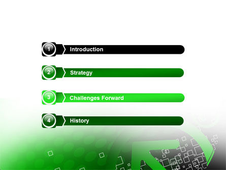 Green Pointing Arrow PowerPoint Template, Slide 3, 08444, Abstract/Textures — PoweredTemplate.com