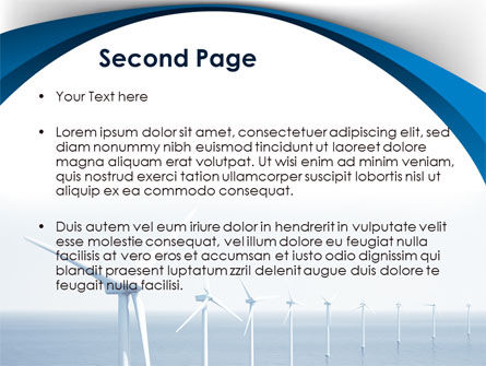 North Sea Windmills PowerPoint Template, Slide 2, 08445, Nature & Environment — PoweredTemplate.com