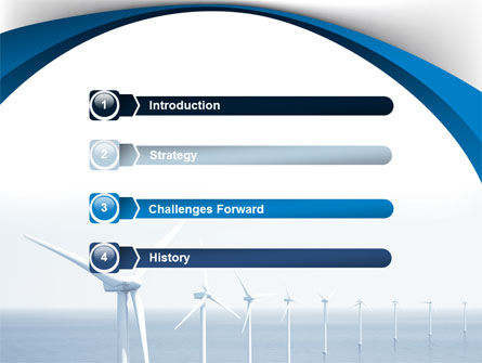 North Sea Windmills PowerPoint Template, Slide 3, 08445, Nature & Environment — PoweredTemplate.com