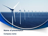 Nature & Environment: North Sea Windmills PowerPoint Template #08445