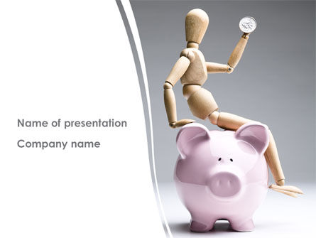 Smart Saving PowerPoint Template, 08446, Financial/Accounting — PoweredTemplate.com