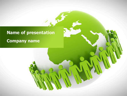 Green Planet Protection PowerPoint Template, 08447, Religious/Spiritual — PoweredTemplate.com