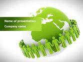 Religious/Spiritual: 緑色の惑星保護 - PowerPointテンプレート #08447