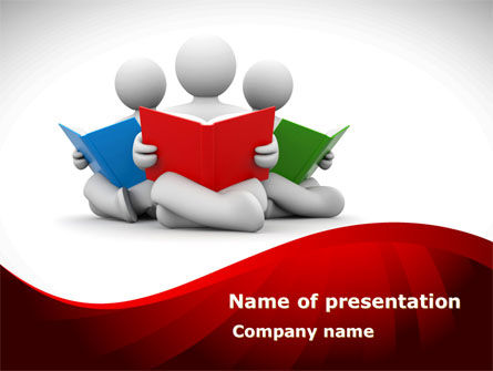 Reading People PowerPoint Template, 08448, Education & Training — PoweredTemplate.com