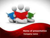 Education & Training: Reading People PowerPoint Template #08448