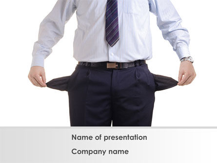 Empty Pockets PowerPoint Template, 08450, Financial/Accounting — PoweredTemplate.com