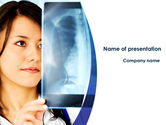 Medical: Lungs X-ray PowerPoint Template #08451