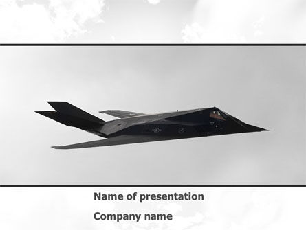 Nighthawk Stealth PowerPoint Template, 08452, Military — PoweredTemplate.com