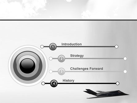 Nighthawk Stealth PowerPoint Template, Slide 3, 08452, Military — PoweredTemplate.com