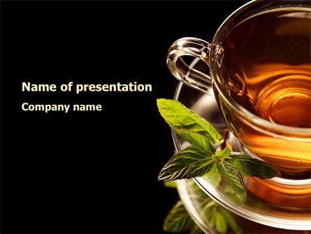 Food & Beverage: Mint Tea PowerPoint Template #08453