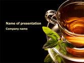 Food & Beverage: Mint Tea PowerPoint Template #08453