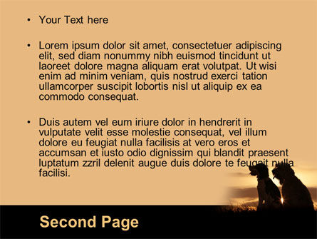 Dog Couple PowerPoint Template, Slide 2, 08454, Animals and Pets — PoweredTemplate.com