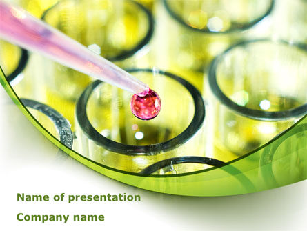 Chemical Drop PowerPoint Template, 08455, Medical — PoweredTemplate.com