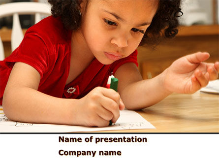 Education & Training: Child Development PowerPoint Template #08456