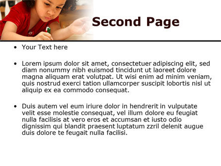 Child Development PowerPoint Template, Slide 2, 08456, Education & Training — PoweredTemplate.com