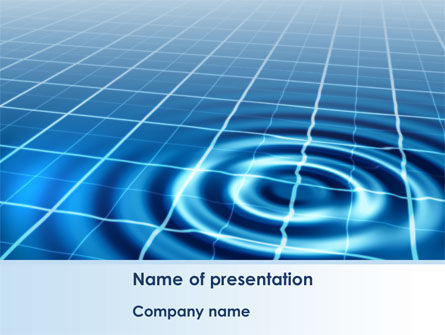 Ripple Effect PowerPoint Template, 08457, Technology and Science — PoweredTemplate.com