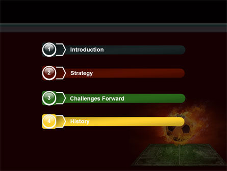 Flaming Football Powerpoint Template Backgrounds 08458