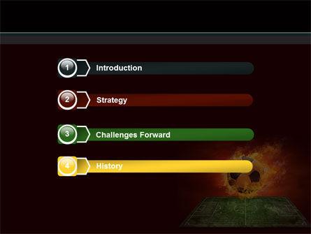 Flaming Football PowerPoint Template, Slide 3, 08458, Sports — PoweredTemplate.com