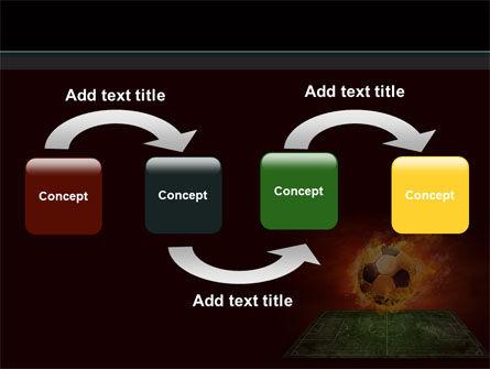 Flaming Football PowerPoint Template, Slide 4, 08458, Sports — PoweredTemplate.com