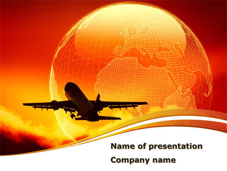 Plane Take Off PowerPoint Template