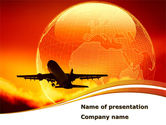 Cars and Transportation: Plane Take Off PowerPoint Template #08459