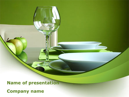 Careers/Industry: Table Setting PowerPoint Template #08460