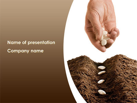 Business Concepts: Planting Seeds PowerPoint Template #08461