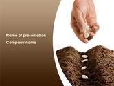 Business Concepts: Modelo do PowerPoint - plantio de sementes #08461