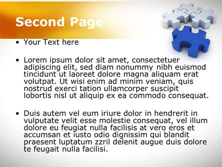 Puzzle Fix PowerPoint Template Slide 2