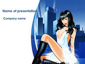 Careers/Industry: Sexy Lady PowerPoint Template #08463