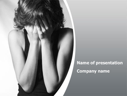 People: Crying Woman PowerPoint Template #08465