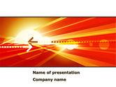 Abstract/Textures: Red thema interaktiv PowerPoint Vorlage #08467
