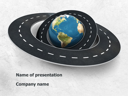 Careers/Industry: Global Road PowerPoint Template #08469