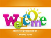 Business Concepts: Welcome PowerPoint Template #08470