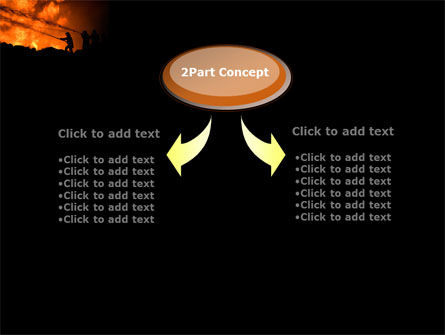Fire Fighting On Massive Fire PowerPoint Template, Slide 4, 08472, Nature & Environment — PoweredTemplate.com