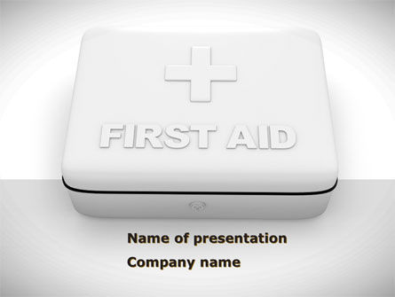 Medical: First Aid Box PowerPoint Template #08473