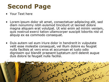 Arabic Book PowerPoint Template, Slide 2, 08474, Religious/Spiritual — PoweredTemplate.com