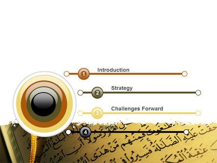 Arabic Book PowerPoint Template, Slide 3, 08474, Religious/Spiritual — PoweredTemplate.com