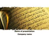 Religious/Spiritual: Arabic Book PowerPoint Template #08474