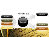 Arabic Book PowerPoint Template#14