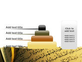 Arabic Book PowerPoint Template#8