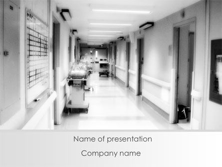 Hospital Corridor PowerPoint Template, 08475, Medical — PoweredTemplate.com