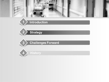 Hospital Corridor PowerPoint Template, Slide 3, 08475, Medical — PoweredTemplate.com