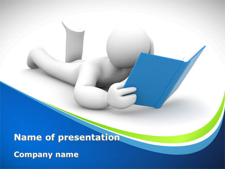 Reader PowerPoint Template, 08476, Education & Training — PoweredTemplate.com