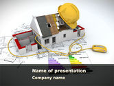 Careers/Industry: House Building Estimate PowerPoint Template #08477