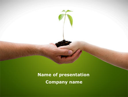 Nature & Environment: Growing Together PowerPoint Template #08482