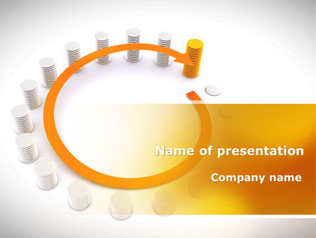 Circle Rise Diagram PowerPoint Template